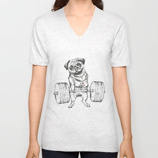 Pug Lift Unisex V-Neck