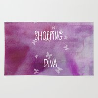 shopping Area & Throw Rugs featuring Shopping Diva by Judith Lee Folde Photography & Art