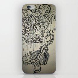 Alien Ink Doodle iPhone Skin