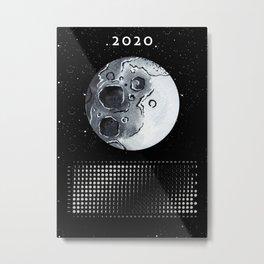 Moon calendar 2020 #6 Metal Print
