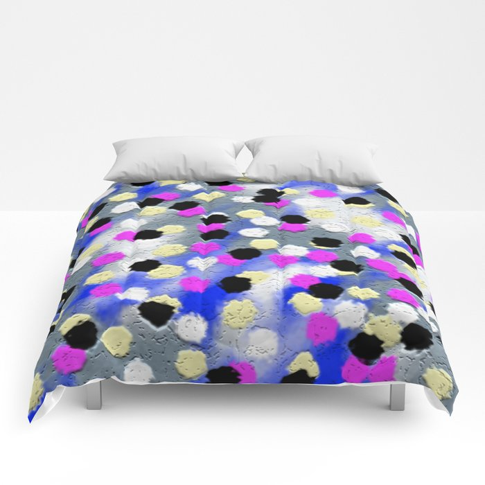 Dotts and texture Abstract Pattern Comforters