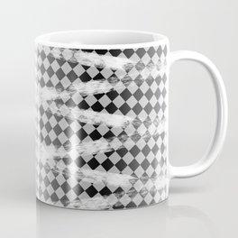 Slim Look Leggings Checkers White Paint Stripes Pattern Coffee Mug