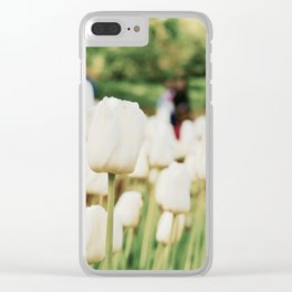 White tulips Clear iPhone Case