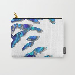 Blue And White Modern Art - Falling 2 - Sharon Cummings Carry-All Pouch