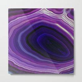 Swirled Purple Geode Metal Print