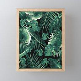 Tropical Jungle Leaves Dream #6 #tropical #decor #art #society6 Framed Mini Art Print