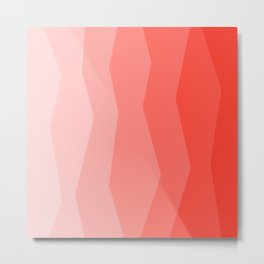 Cool Geometric Living Coral Gradient abstract Metal Print