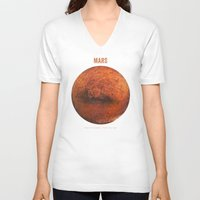 mars V-neck T-shirts featuring Mars by Terry Fan