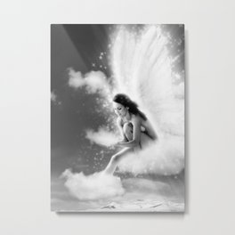 Angel, Nude Erotic Sexy Woman Naked Photo Art Print Metal Print