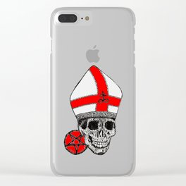 GHOST RED Clear iPhone Case