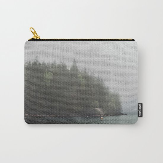 Foggy morning at the lake Carry-All Pouch