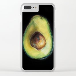 Avocado Painting by Brooke Figer Clear iPhone Case