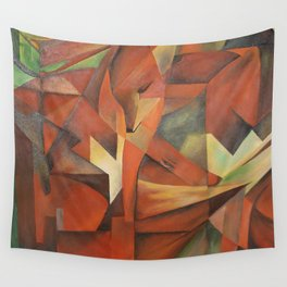 Foxes - Homage to Franz Marc (1913) Wall Tapestry