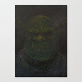 Shrek (oil on canvas) Canvas Print