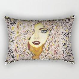 Leopard Girl Rectangular Pillow