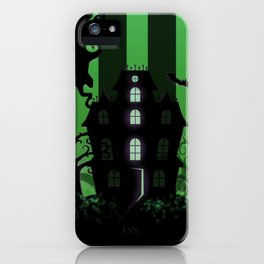 Be it ever so Haunted, there's no place like Home - Green iPhone Case