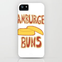Hamburger Buns iPhone Case
