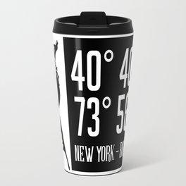 NEW YORK COORDINATES Travel Mug