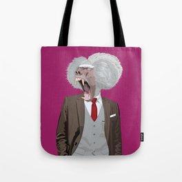 Baboon wearing William Fioravanti Tote Bag