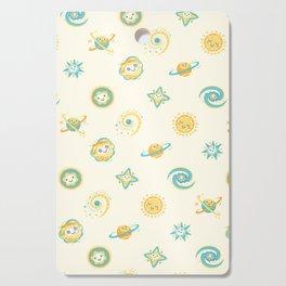 Pastel space pattern Cutting Board
