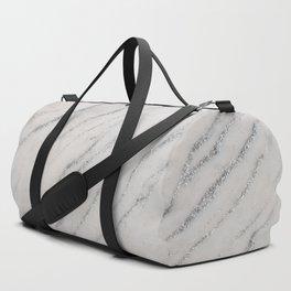 Marble Silver Glitter Glam #1 #shiny #gem #decor #art #society6 Duffle Bag