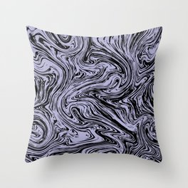 Marble pattern purple pastel Throw Pillow