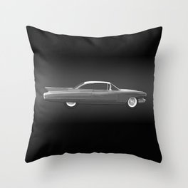 Cadillac Coupe De Ville - 1960 BW Throw Pillow