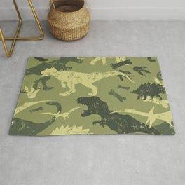 Seamless camouflage dino pattern Rug