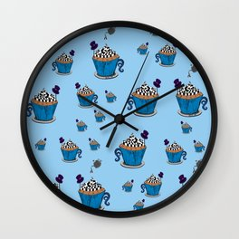 Wonderland Cupcake Wall Clock