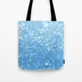 Sparkling Baby Sky Blue Glitter Effect Tote Bag