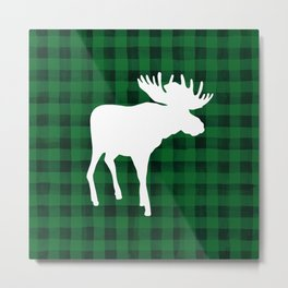 Woodland Moose Metal Print