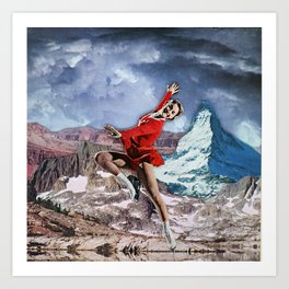 Skating in the Mountains Art Print