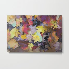 Carpet of Autumn Leaves Painting Style Metal Print