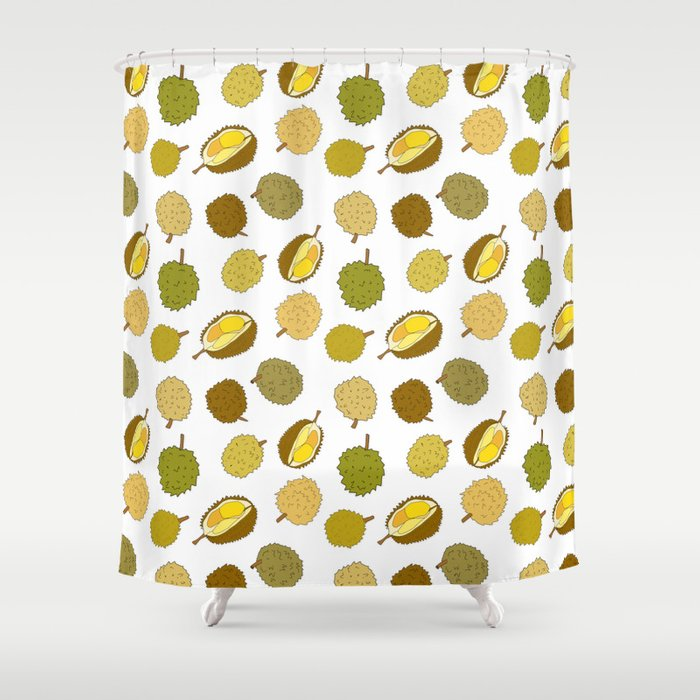 Durian Fruit Shower Curtain By Maxleeart