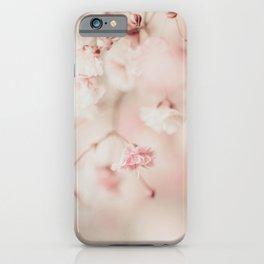 Pink Linen Gypsophila iPhone Case