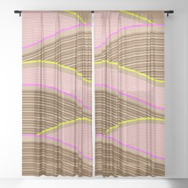 Happy Times - Chocolate Fields Sheer Curtain