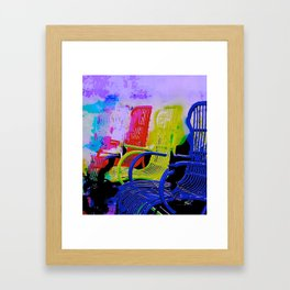 Lounge Chairs Framed Art Print