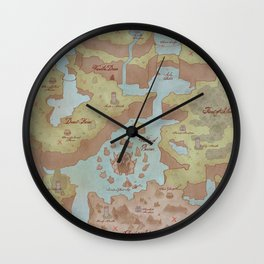 Super Mario World Map (Vintage Style) Wall Clock