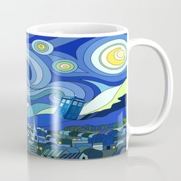 Tardis Art Starry Night Coffee Mug