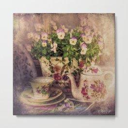 Tea For One Metal Print