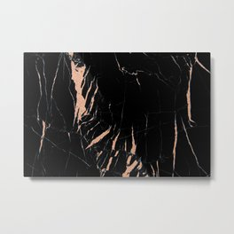 Black and rose gold / copper #2 Metal Print