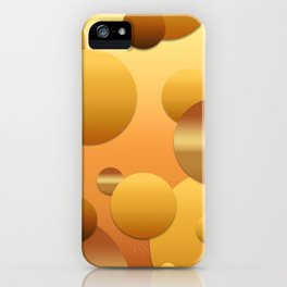 Pattern of soft gradient circles iPhone Case