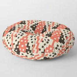 Chocktaw Geometric Square Cutout Pattern - Iron Oxide Floor Pillow