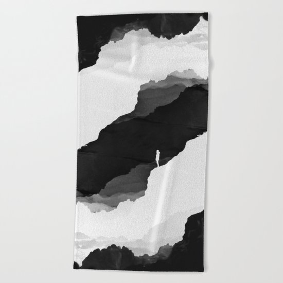 Black Isolation Beach Towel