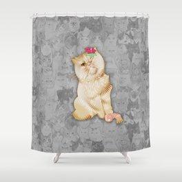 Peaches Revision Shower Curtain