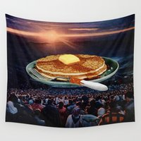 breakfast Wall Tapestries featuring Breakfast by Lerson