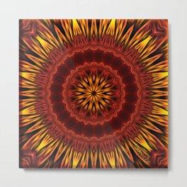 Mandala of Surya the Sun God  Metal Print