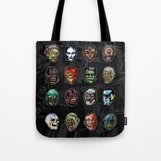 Horror Movie Monster Masks (color) Tote Bag