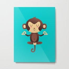 ChimpanZEN Metal Print