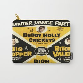 Buddy Holly Winter dance party Big Bopper , Richie Valens Concert poster Jan 25 1959 Carry-All Pouch